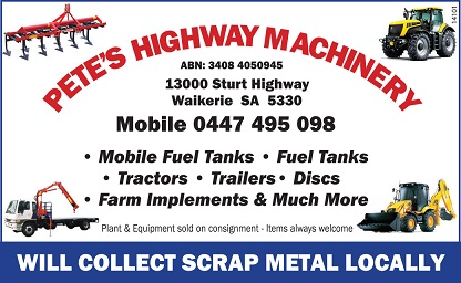 banner image for Pete's Highway Machinery